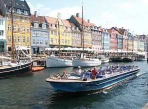 Denmark Nyhavn Canal and Harbour in Copenhagen