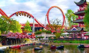 Denmark Tivoli Gardens Funfair