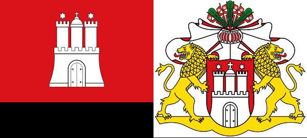 Hamburg Coat and Flag