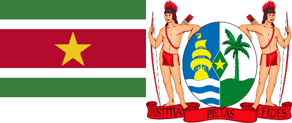 Suriname-Coat-and-Flag