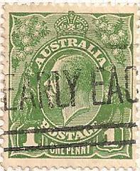 Australia Postage Stamp 1913 King George V 1d green SG# 125