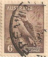 Australia Postage Stamp 1937 Coronation Kookaburra 6d brown SG# 189A