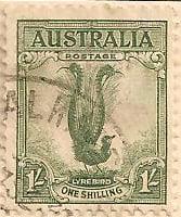 Australia Postage Stamp 1932 The Superb Lyre Bird 1s green SG# 140