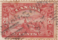 Canada 1928 Postage Stamp 20 twenty cents red SG # 283 Postes Post Harvesting with Horses