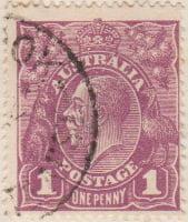 Australia Postage Stamp 1913 King George V 1d purple SG# 57