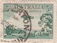 Australia Postage Stamp 1929 Air De Havilland Hercules Pastoral Scene 3d green SG# 115