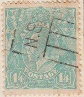 Australia Postage Stamp 1913 King George V 1.4s blue SG# 131