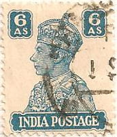 India 1940 Postage Stamp King George VI 6As green SG # 274 http://richterstamps.co.za