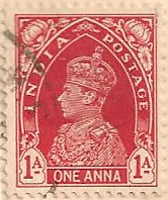 India 1937 Postage Stamp King George VI 1A one anna red SG # 250 http://richterstamps.co.za