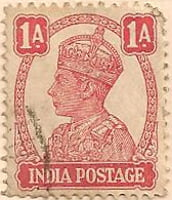 India 1940 Postage Stamp King George VI 1A red SG # 268 http://richterstamps.co.za