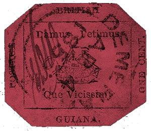 British Guiana 1 c magenta Stamp