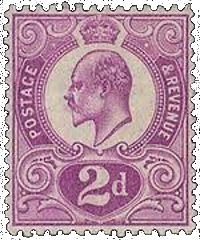 Great Britain Tyrian Plum Stamp